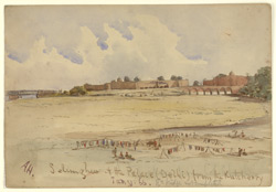 View of Salimgarh and the Palace, Delhi. January 1866